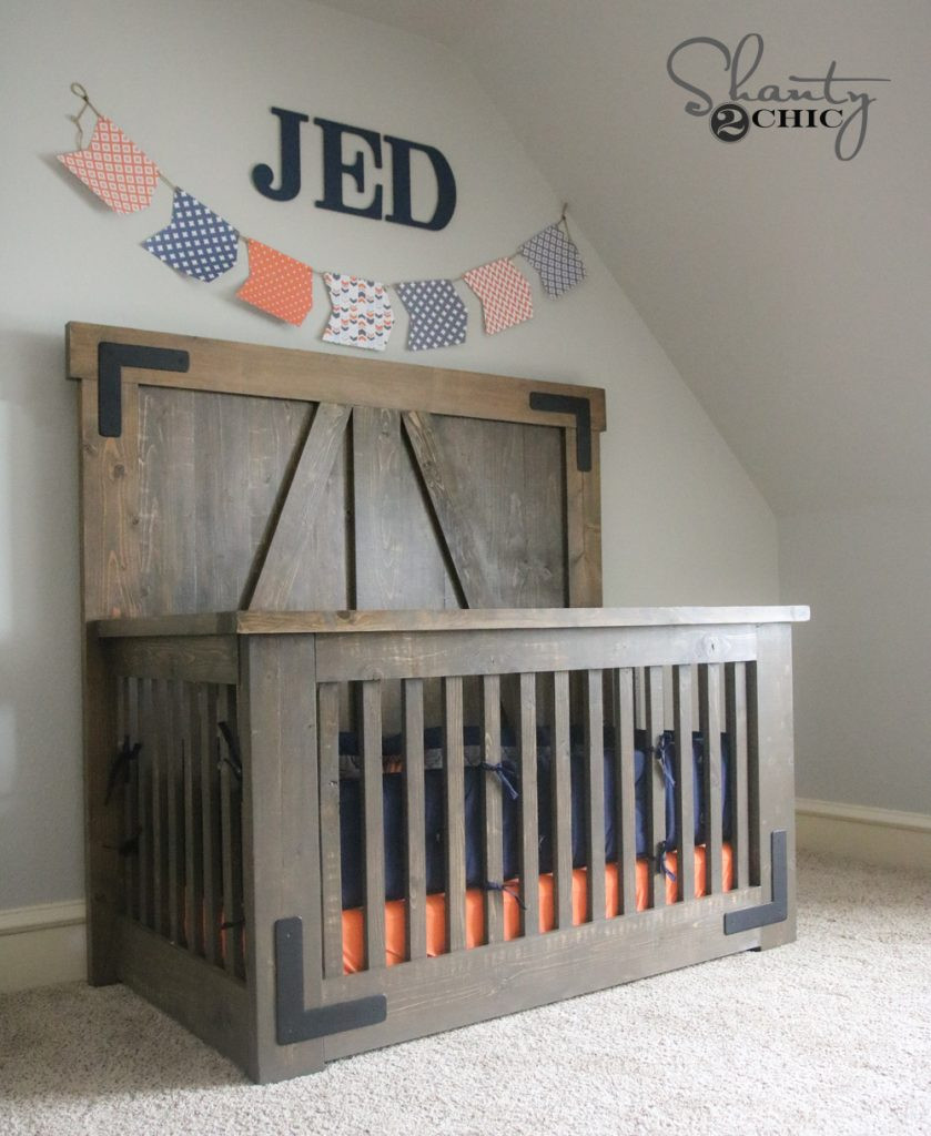 Best ideas about DIY Baby Crib . Save or Pin DIY Farmhouse Crib Free Tutorial and Plans Shanty 2 Chic Now.