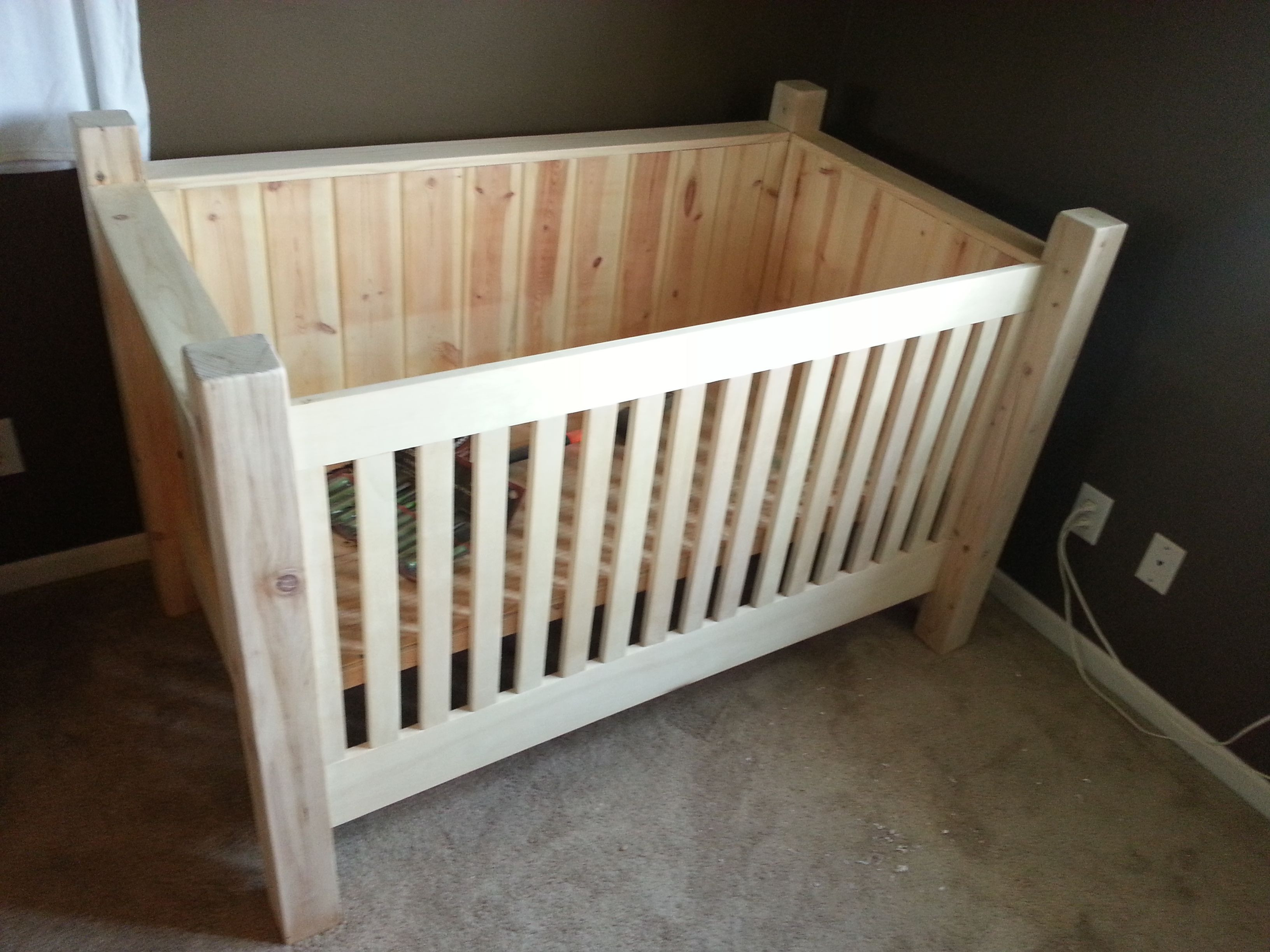 Best ideas about DIY Baby Crib . Save or Pin DIY Wood Crib This is another option if doing all tree Now.