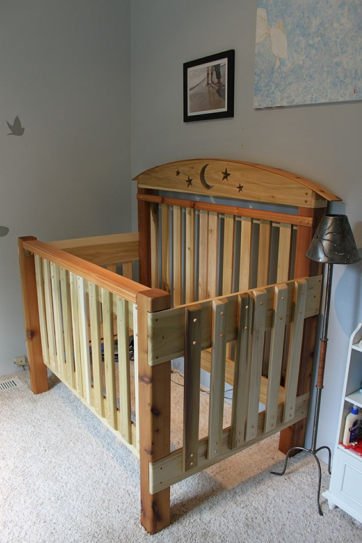 Best ideas about DIY Baby Crib . Save or Pin Crib Build Made pletely of Cedar and Poplar Now.