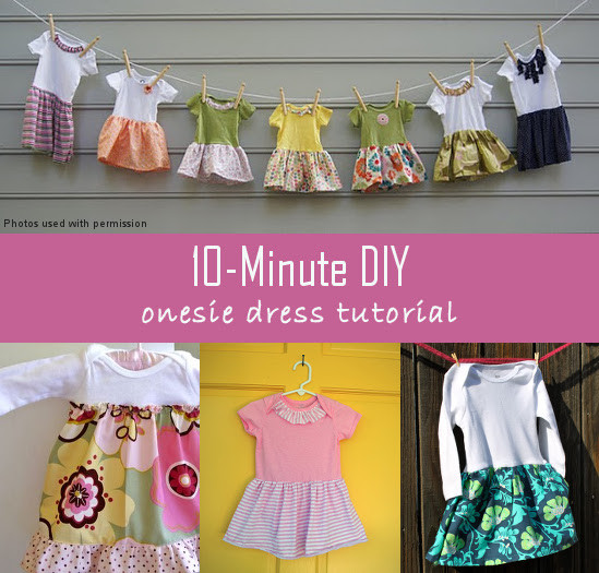 Best ideas about DIY Baby Dresses . Save or Pin 10 Minute DIY esie Dress Tutorial Now.