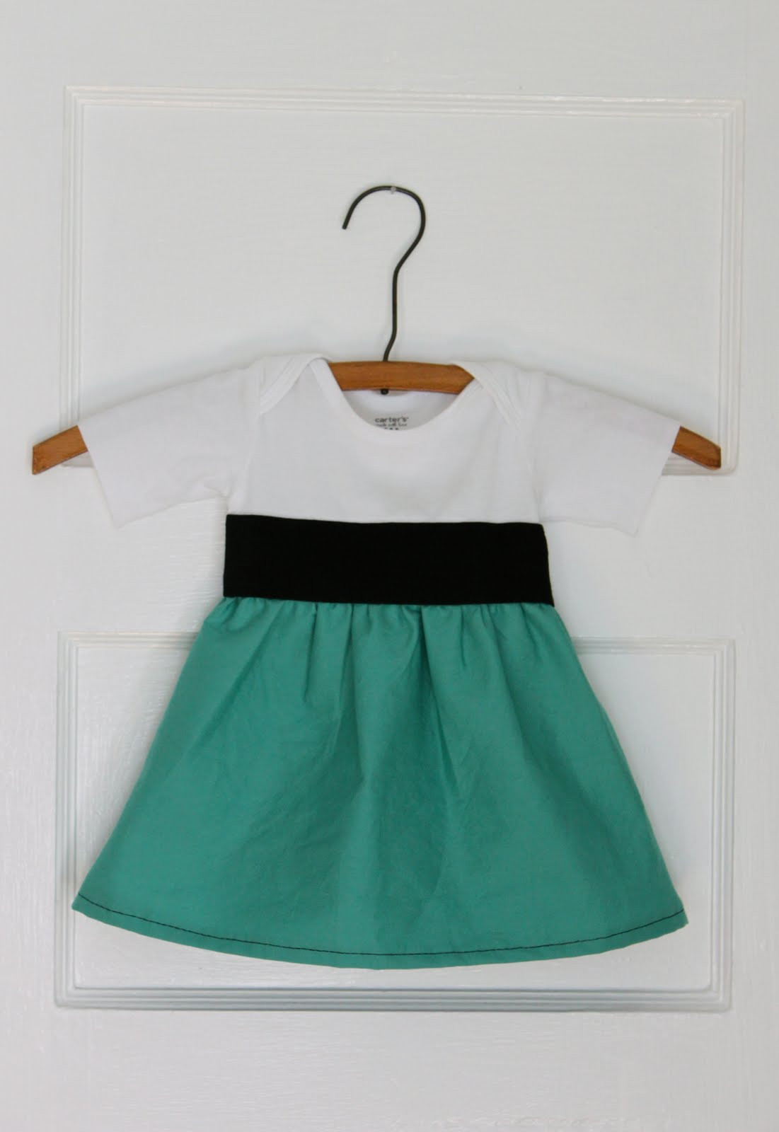 Best ideas about DIY Baby Dresses . Save or Pin Smile and Wave DIY esie to Dress Tutorial Now.