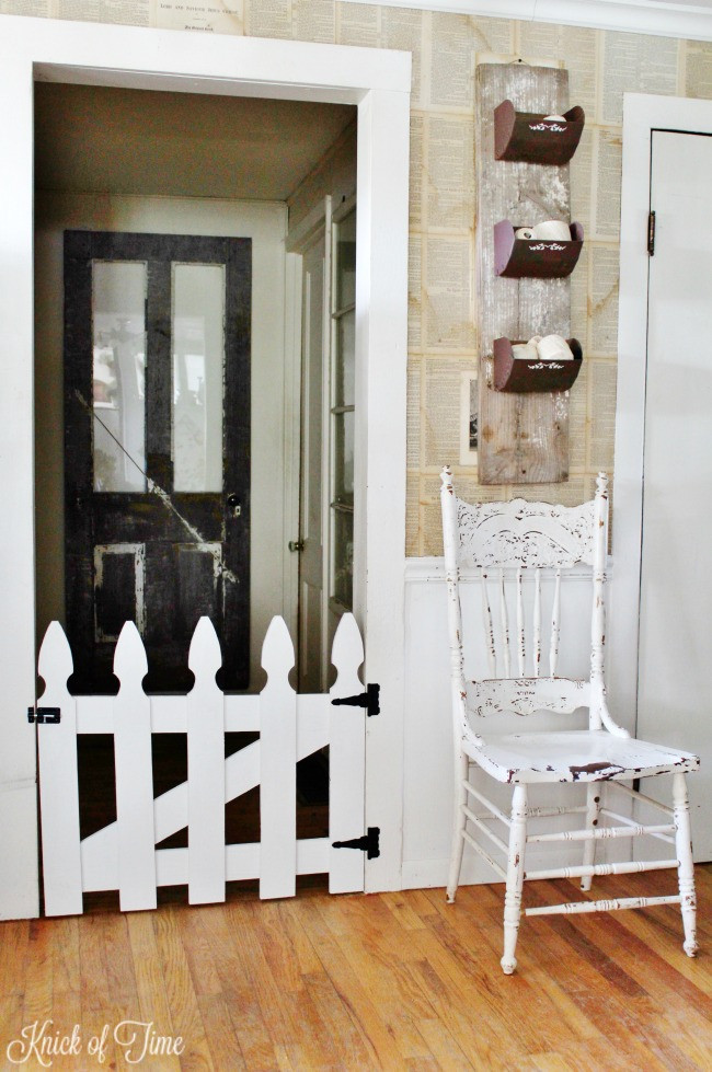 Best ideas about DIY Baby Fence . Save or Pin Picket Fence Pet Gate Knick of Time Now.