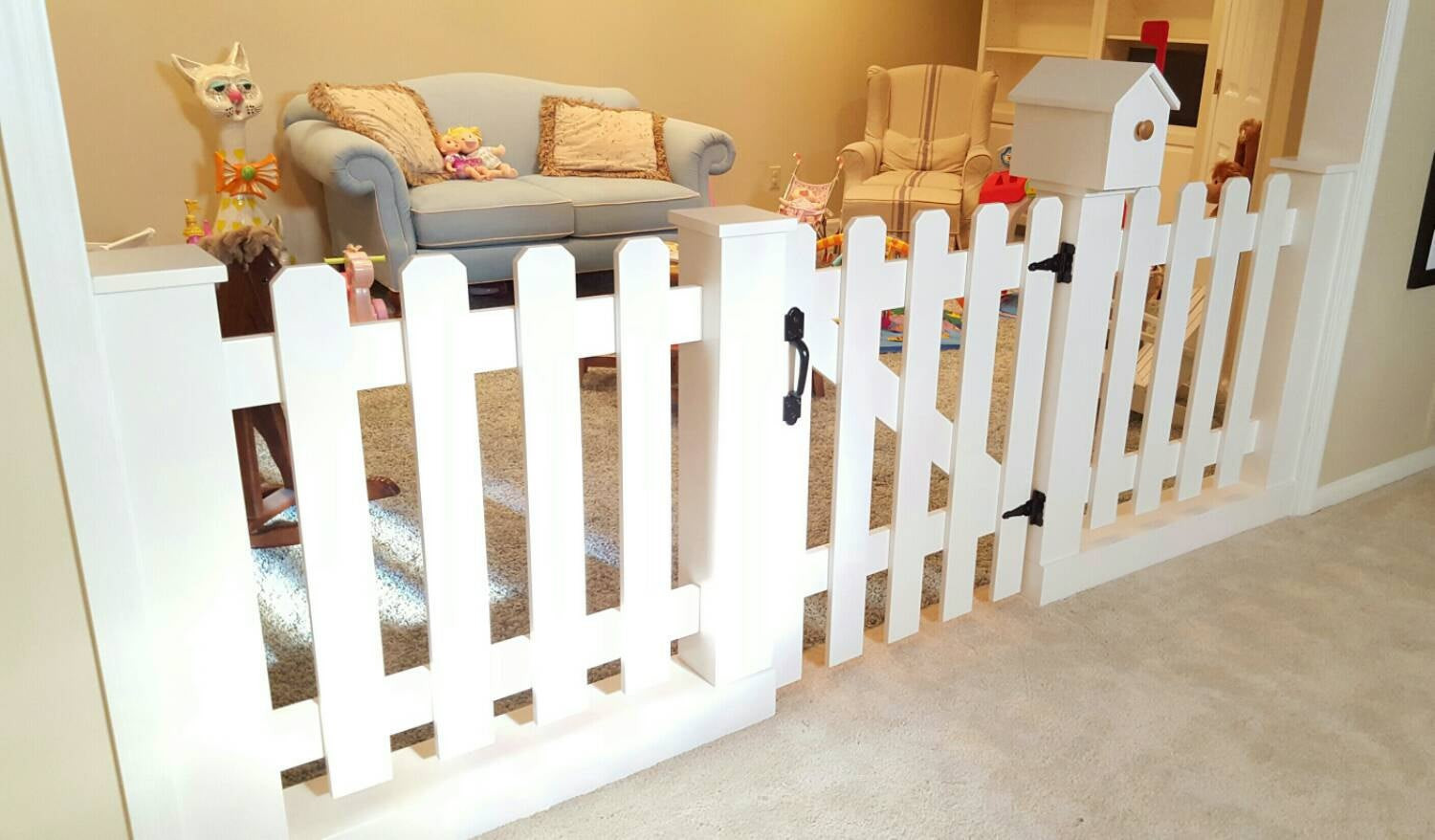 Best ideas about DIY Baby Fence . Save or Pin Baby Gate Playroom Picket Fence Room Divider Now.