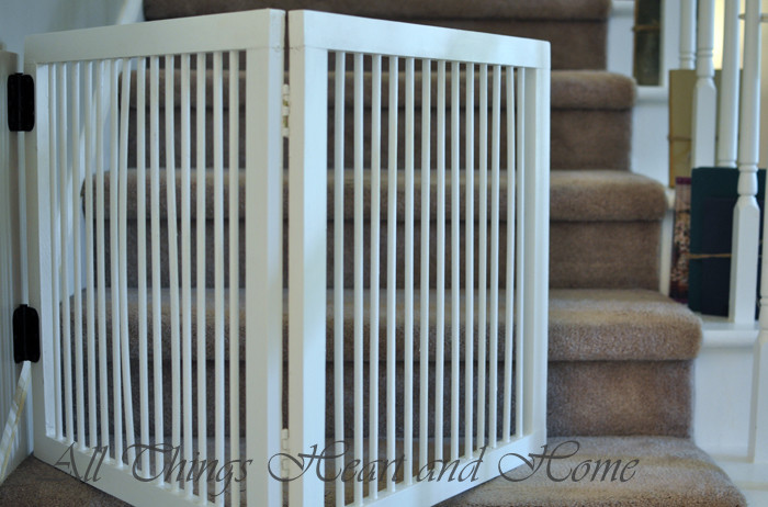 Best ideas about DIY Baby Gate For Stairs . Save or Pin DIY Baby Gate for Stairs All Things Heart and Home Now.