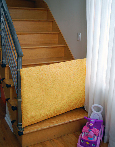 Best ideas about DIY Baby Gate For Stairs . Save or Pin Fashionable Fabric Homemade Baby Gate Now.