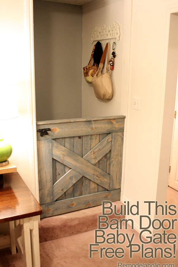 Best ideas about DIY Baby Gate For Stairs . Save or Pin Free Plans DIY Barn Door Baby Gate for Stairs Now.