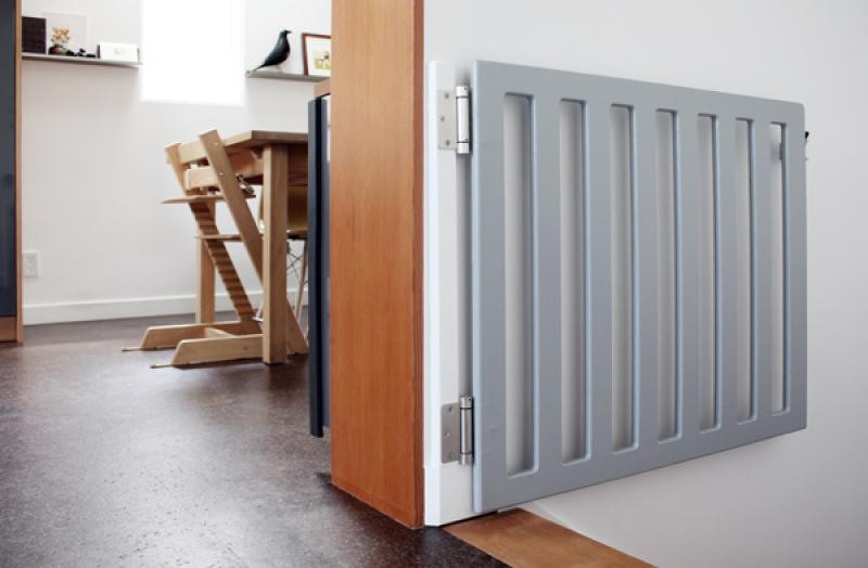 Best ideas about DIY Baby Gate For Stairs . Save or Pin grey wooden diy baby gates for stairs Now.