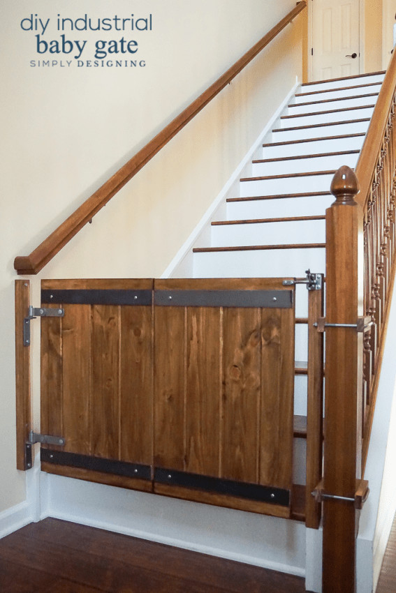 Best ideas about DIY Baby Gate For Stairs . Save or Pin How to Make a Custom DIY Baby Gate with an Industrial Style Now.