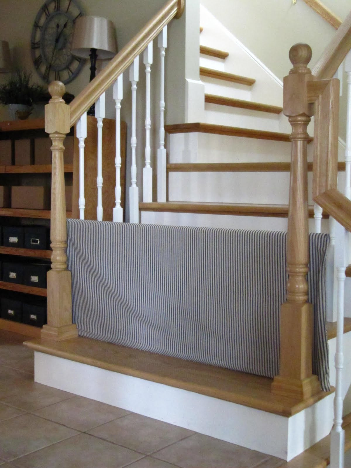 Best ideas about DIY Baby Gate For Stairs . Save or Pin Tool Time Tuesday PVC Dog Gate and Stair Baskets Too Now.
