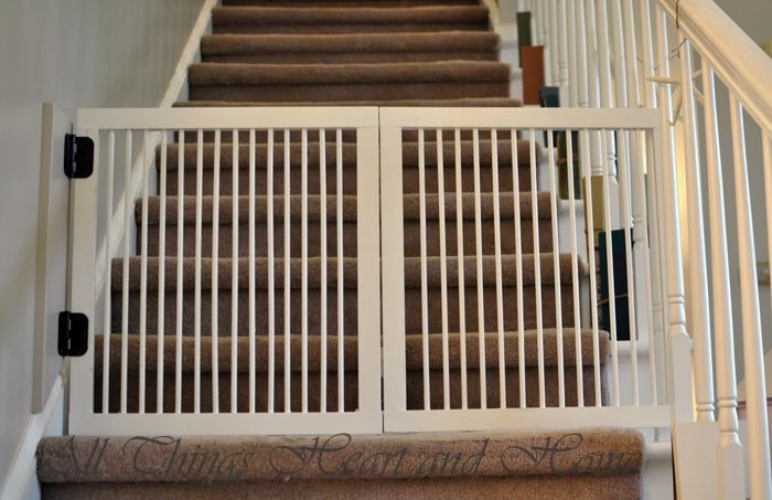 Best ideas about DIY Baby Gate For Stairs . Save or Pin DIY Baby Gate for Stairs Now.