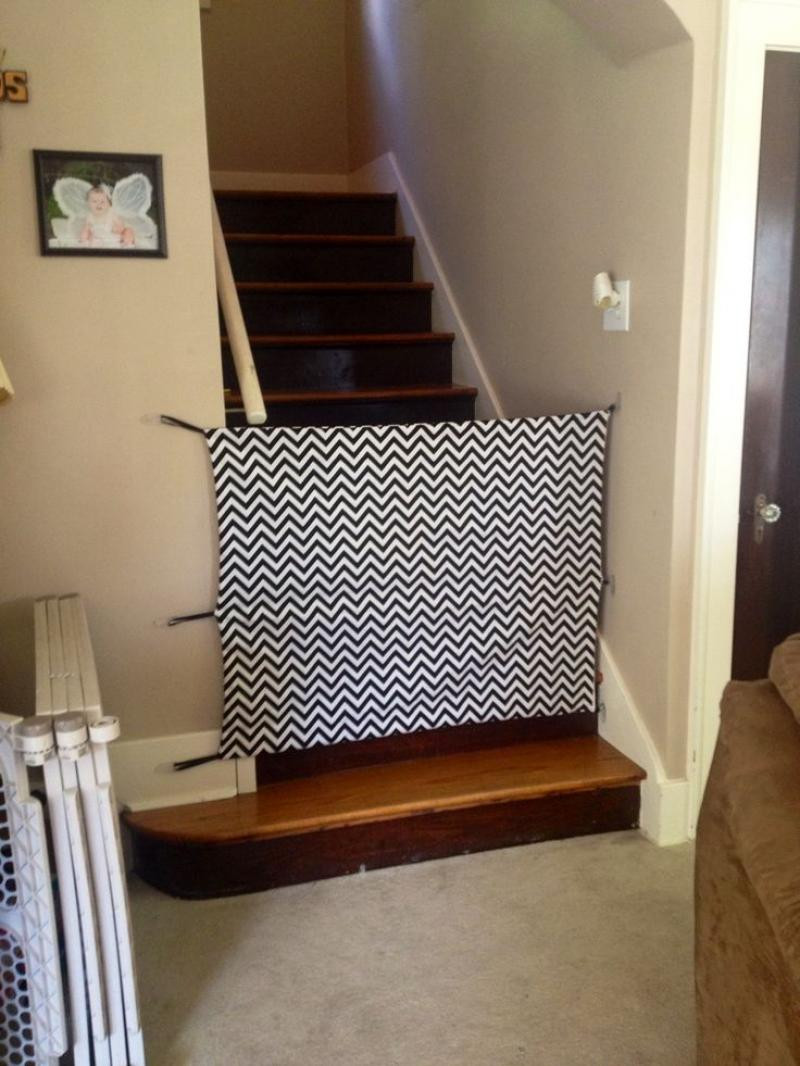 Best ideas about DIY Baby Gate For Stairs . Save or Pin diy baby gates for stairs fabric material Now.