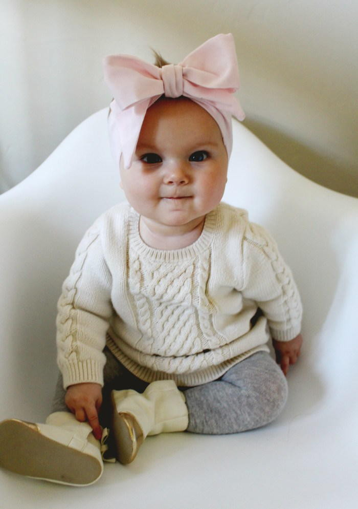 Best ideas about DIY Baby Girl Headbands . Save or Pin Oversized Bow DIY Baby Headband Now.