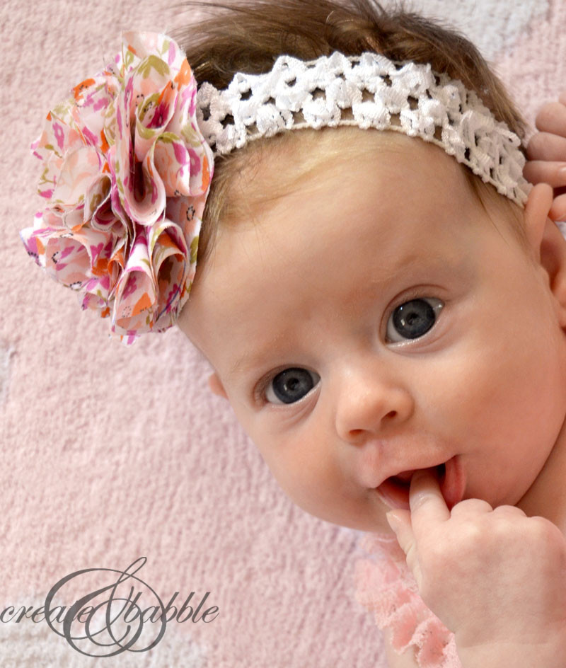 Best ideas about DIY Baby Girl Headbands . Save or Pin Fabric Flower Baby Headbands Create and Babble Now.