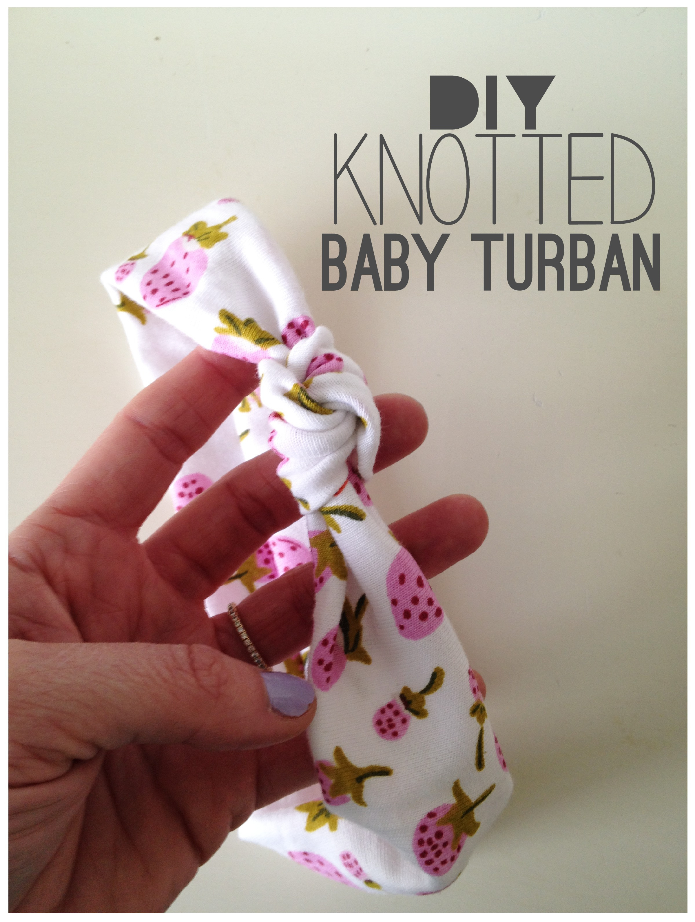 Best ideas about DIY Baby Girl Headbands . Save or Pin Knotted Baby Turban Tutorial Now.