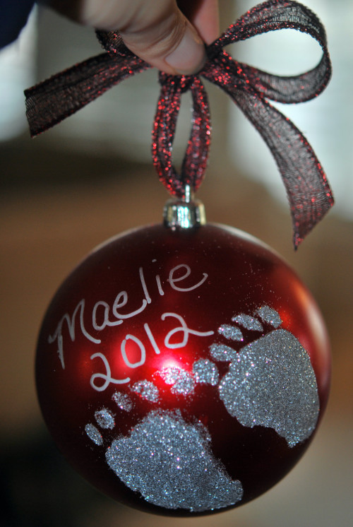 Best ideas about DIY Baby Handprint . Save or Pin DIY Holiday Footprint Ornaments A Perfect Holiday Gift Now.