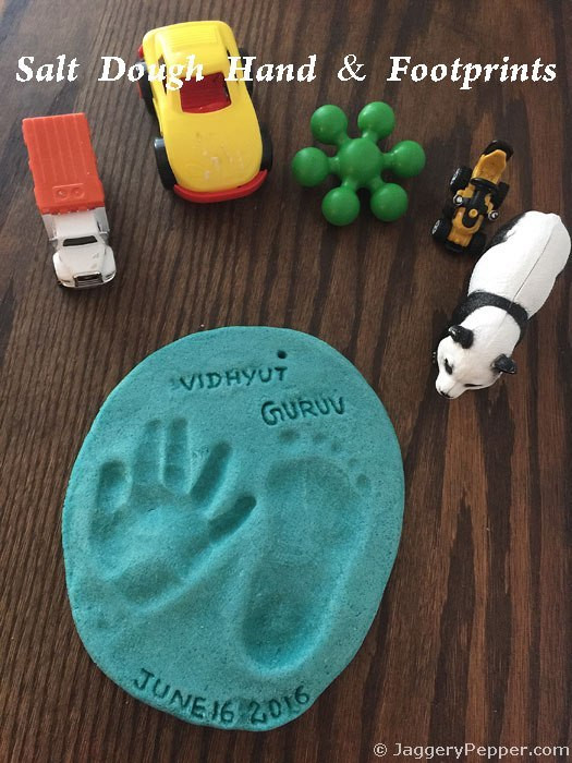 Best ideas about DIY Baby Handprint . Save or Pin DIY Salt Dough Baby Handprint & Footprint Keepsake Now.