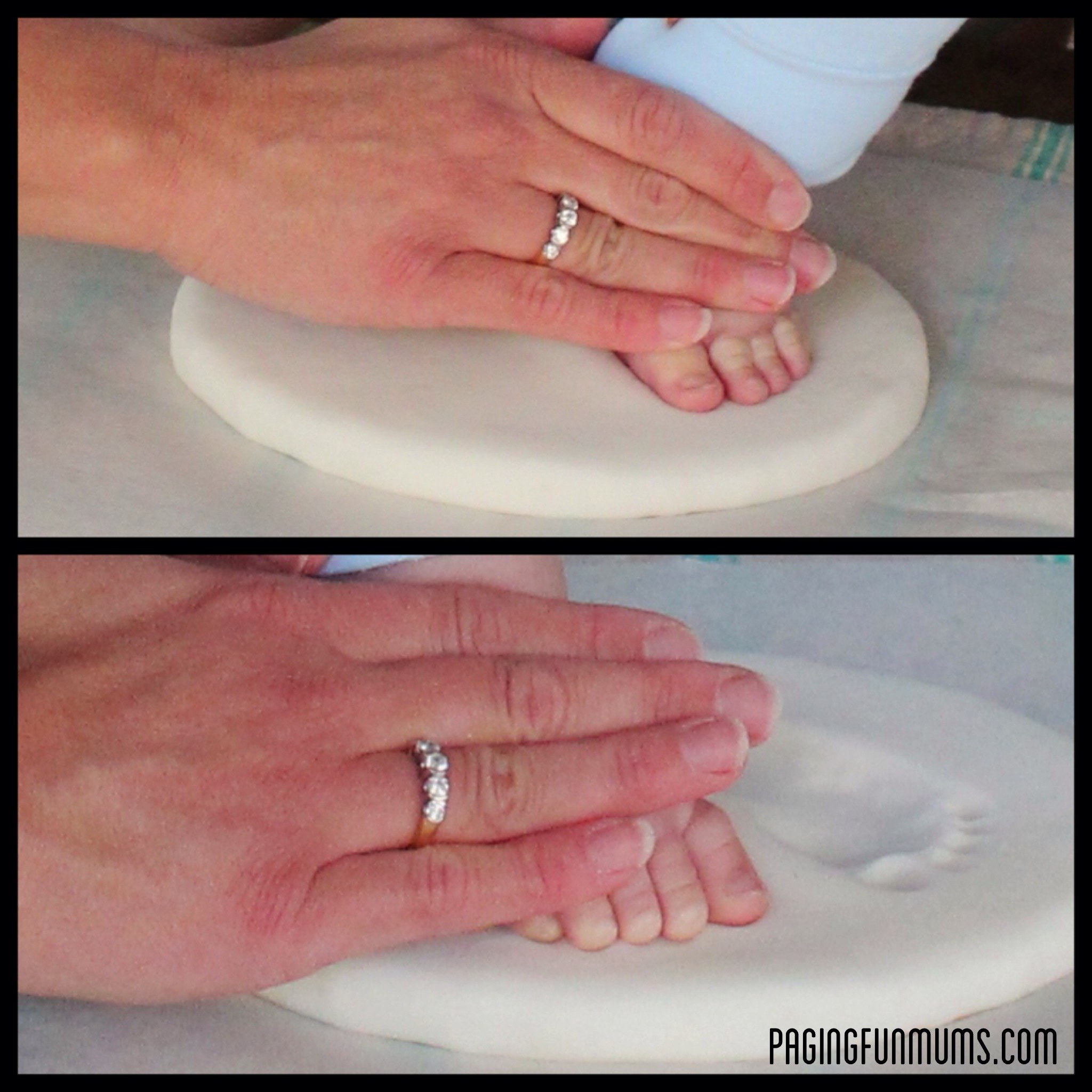 Best ideas about DIY Baby Handprint . Save or Pin DIY Baby Keepsake using Homemade Clay Paging Fun Mums Now.