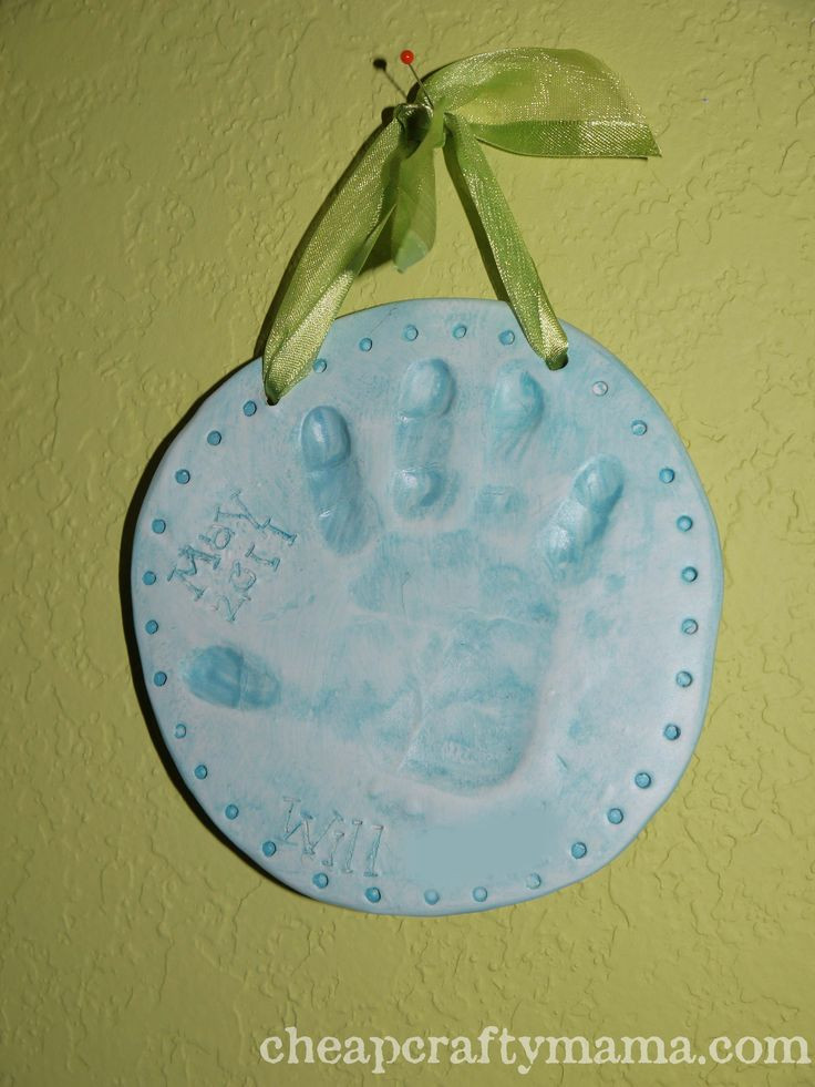 Best ideas about DIY Baby Handprint . Save or Pin DIY Clay Handprint Plaque Now.