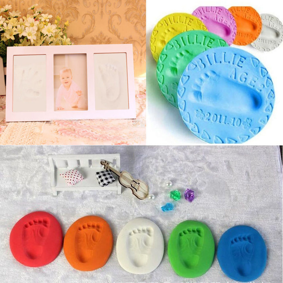 Best ideas about DIY Baby Handprint . Save or Pin Infant Baby Kids Handprint Footprint Clay Special Baby DIY Now.