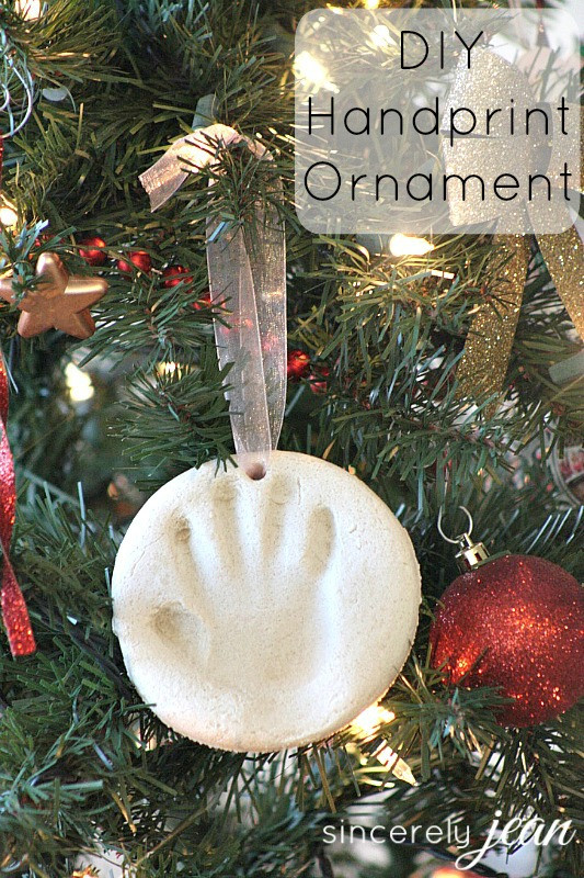 Best ideas about DIY Baby Handprint . Save or Pin DIY Handprint Christmas Ornament Sincerely Jean Now.