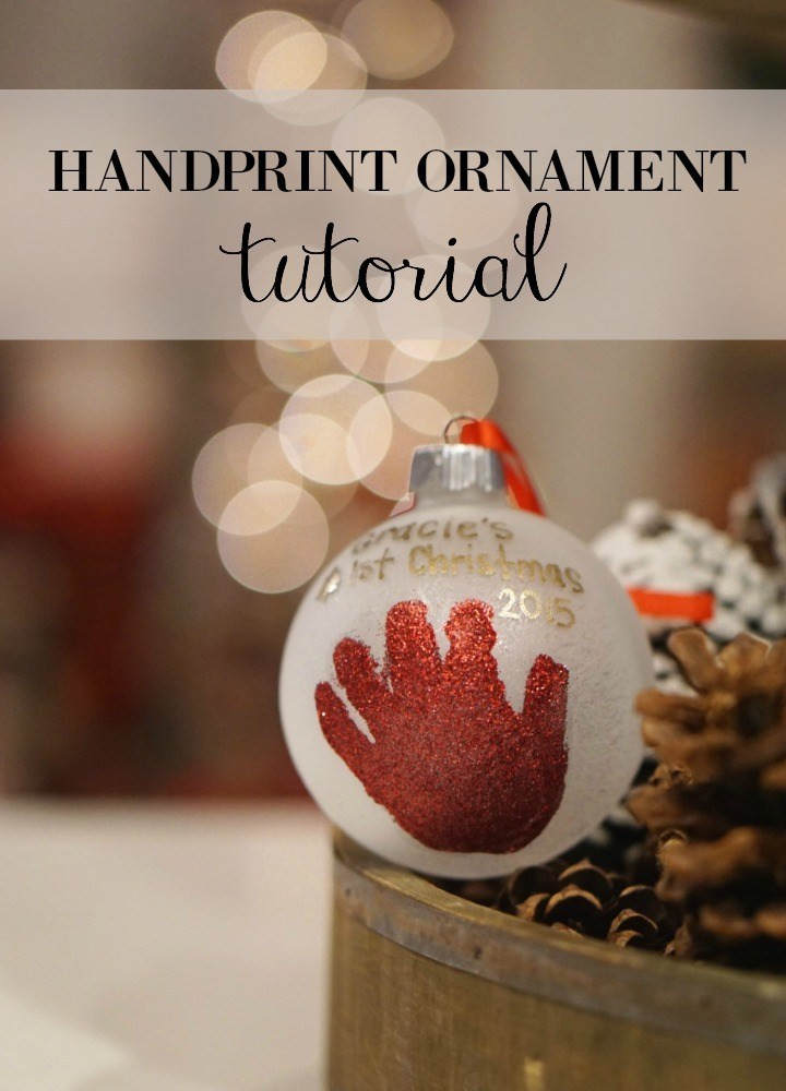 Best ideas about DIY Baby Handprint . Save or Pin DIY Baby Handprint Ornament – Graceful Mommy Now.