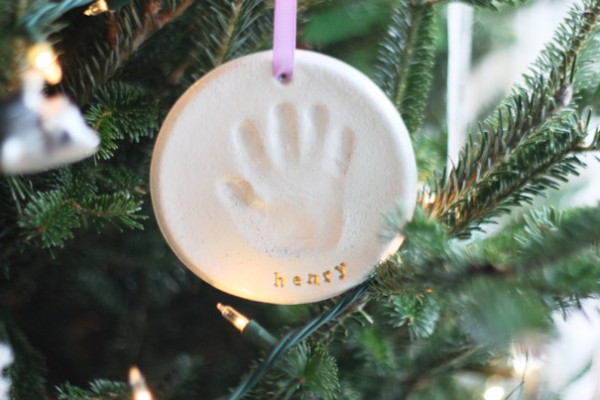 Best ideas about DIY Baby Handprint . Save or Pin Personalized Ornaments for Baby's First Christmas Now.
