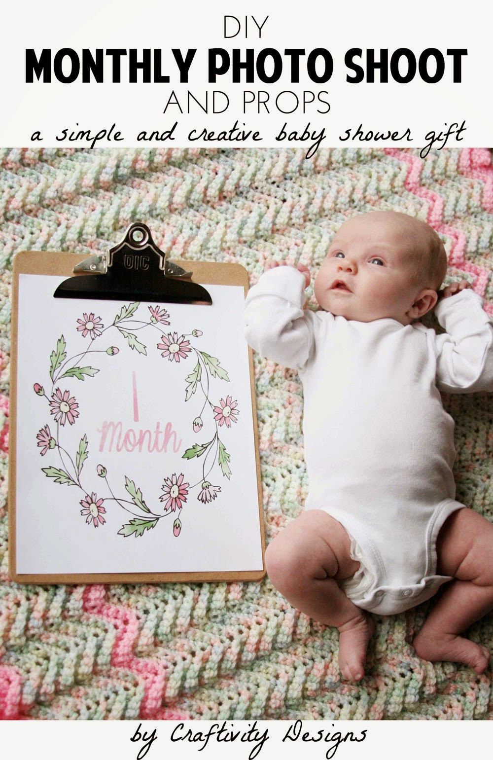 Best ideas about DIY Baby Photo Shoot . Save or Pin DIY Monthly Baby s – Craftivity Designs Now.