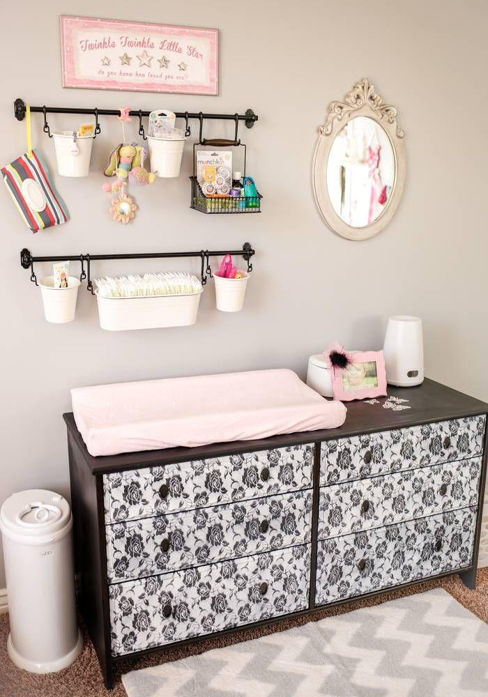 Best ideas about DIY Baby Rooms . Save or Pin DIY Baby Changing Station Nursery organization Now.