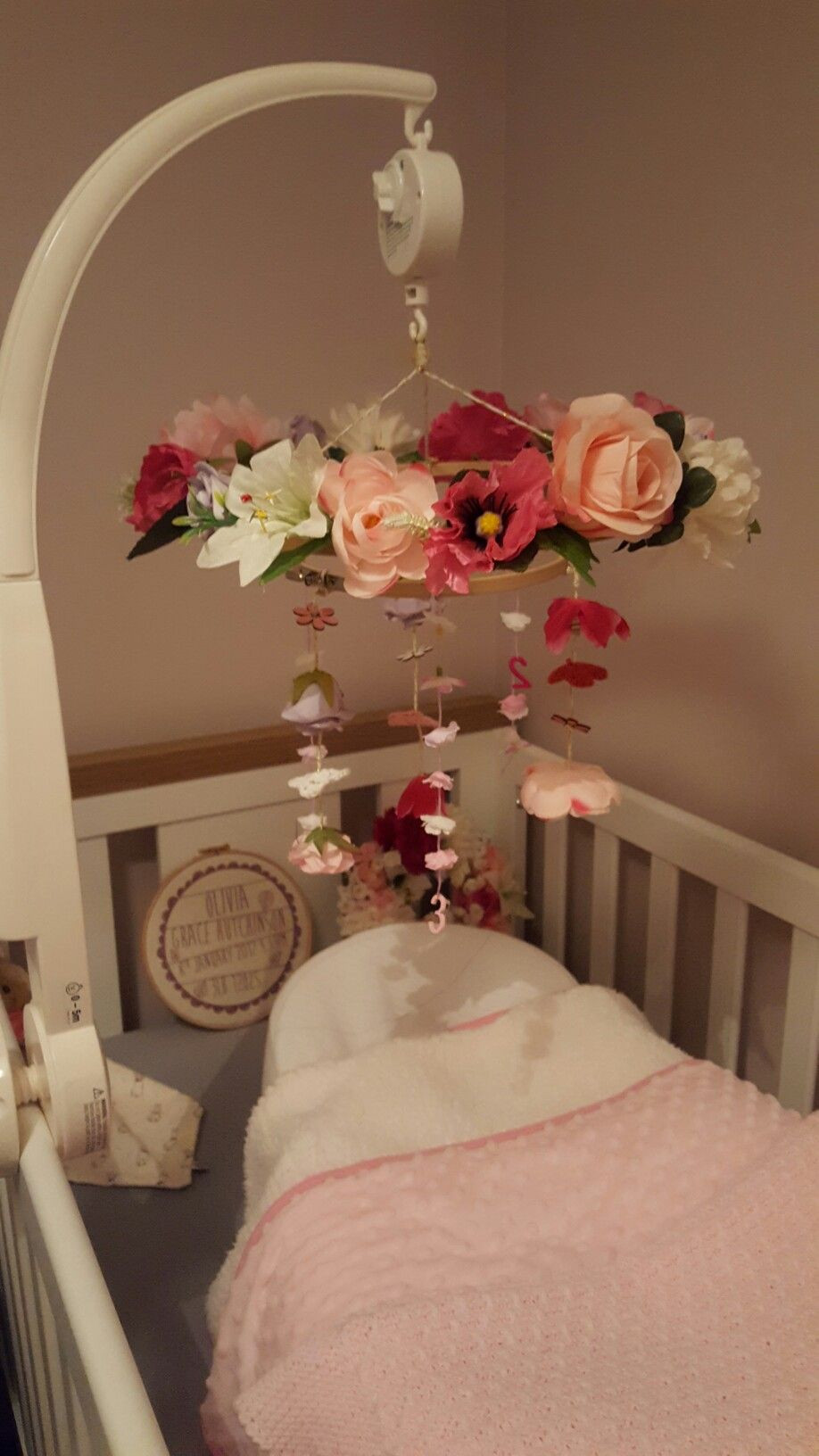 Best ideas about DIY Baby Rooms . Save or Pin DIY Woodland Nursery Mobile for baby girls room Now.