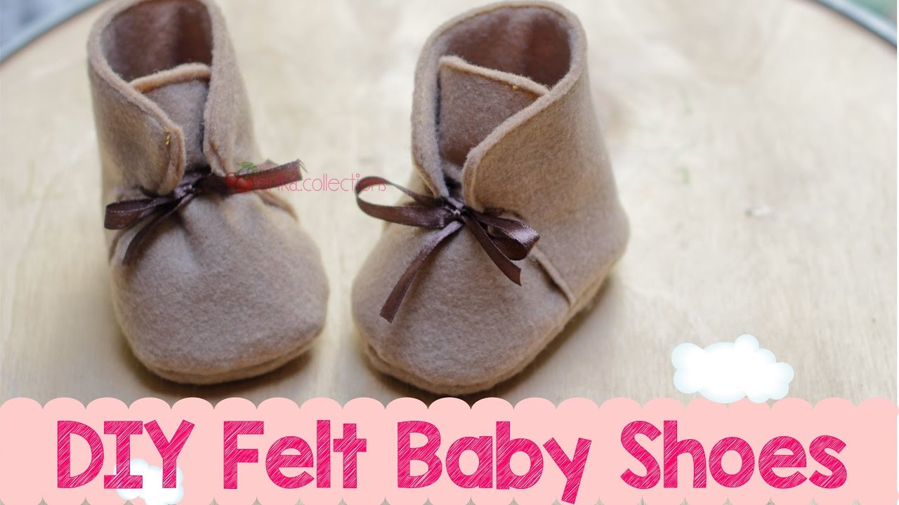 Best ideas about DIY Baby Shoes . Save or Pin DIY Felt Baby Boots Shoes Membuat Sepatu Boot Bayi Now.