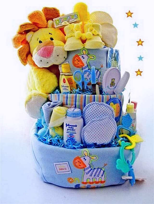 Best ideas about Diy Baby Shower Gift Basket Ideas . Save or Pin Ideas to Make Baby Shower Gift Basket Now.