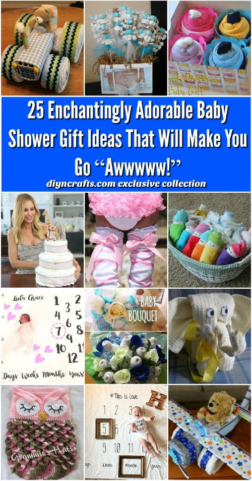 Best ideas about Diy Baby Shower Gift Ideas . Save or Pin 25 Enchantingly Adorable Baby Shower Gift Ideas That Will Now.