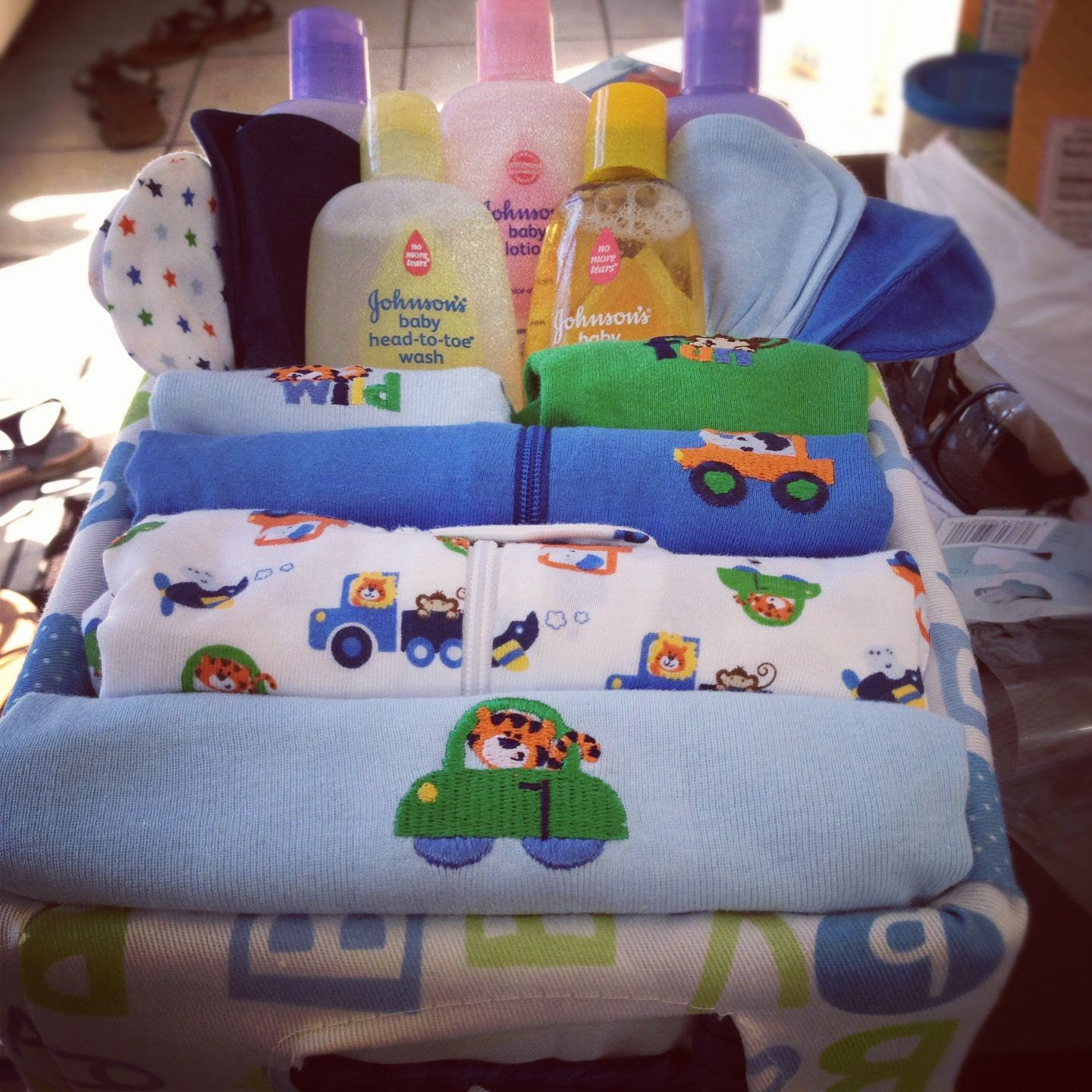 Best ideas about DIY Baby Shower Gifts For Boy . Save or Pin Baby shower DIY t basket boy t ideas Now.