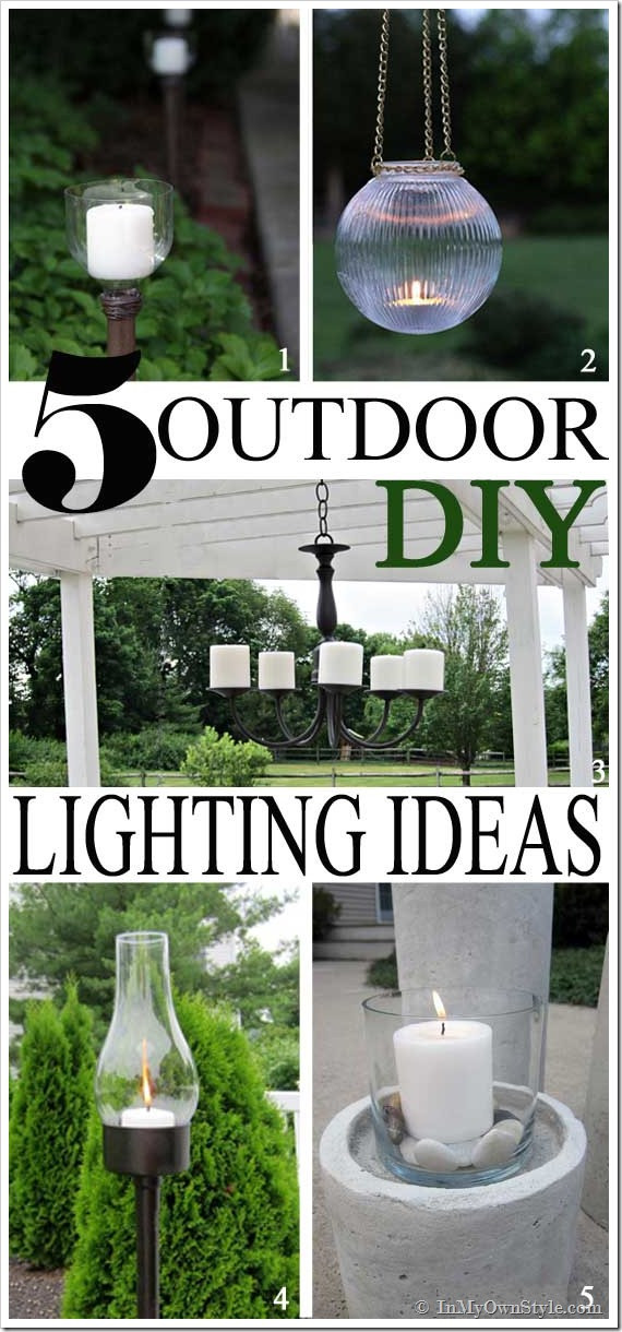 Best ideas about DIY Backyard Lighting . Save or Pin Outdoor DIY Lighting Ideas Now.