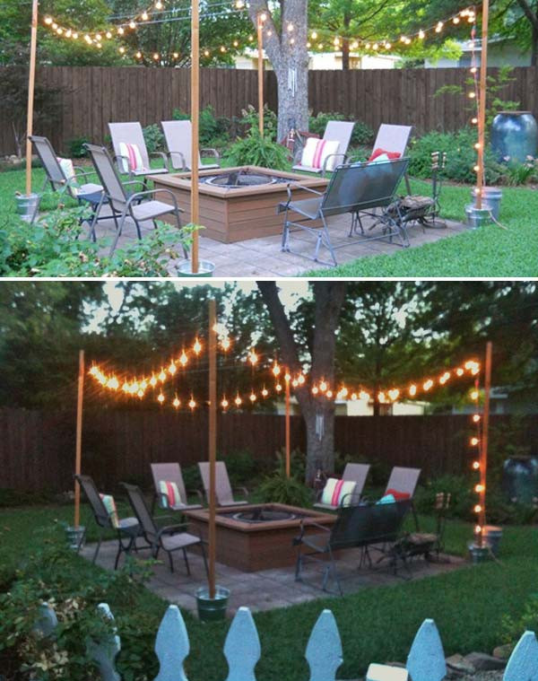 Best ideas about DIY Backyard Lighting . Save or Pin 15 DIY Backyard and Patio Lighting Projects Now.