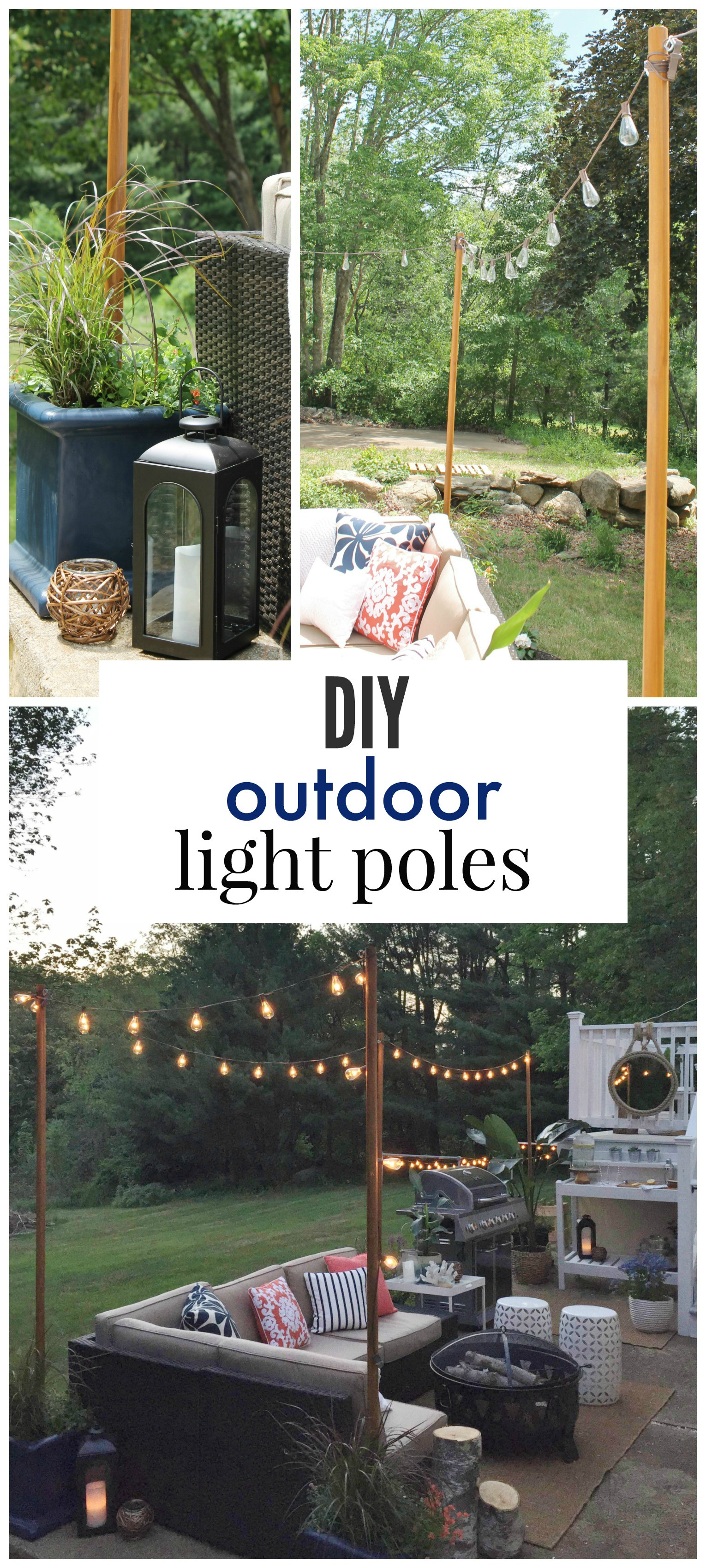 Best ideas about DIY Backyard Lighting . Save or Pin DIY Outdoor Light Poles City Farmhouse Now.
