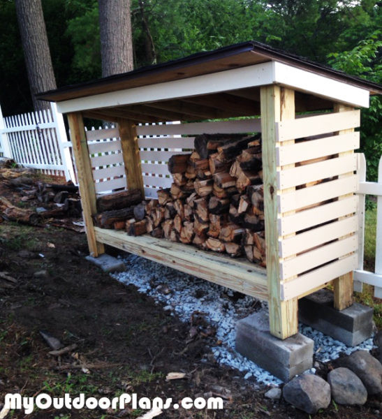 Best ideas about DIY Backyard Sheds . Save or Pin DIY Backyard Firewood Shed MyOutdoorPlans Now.