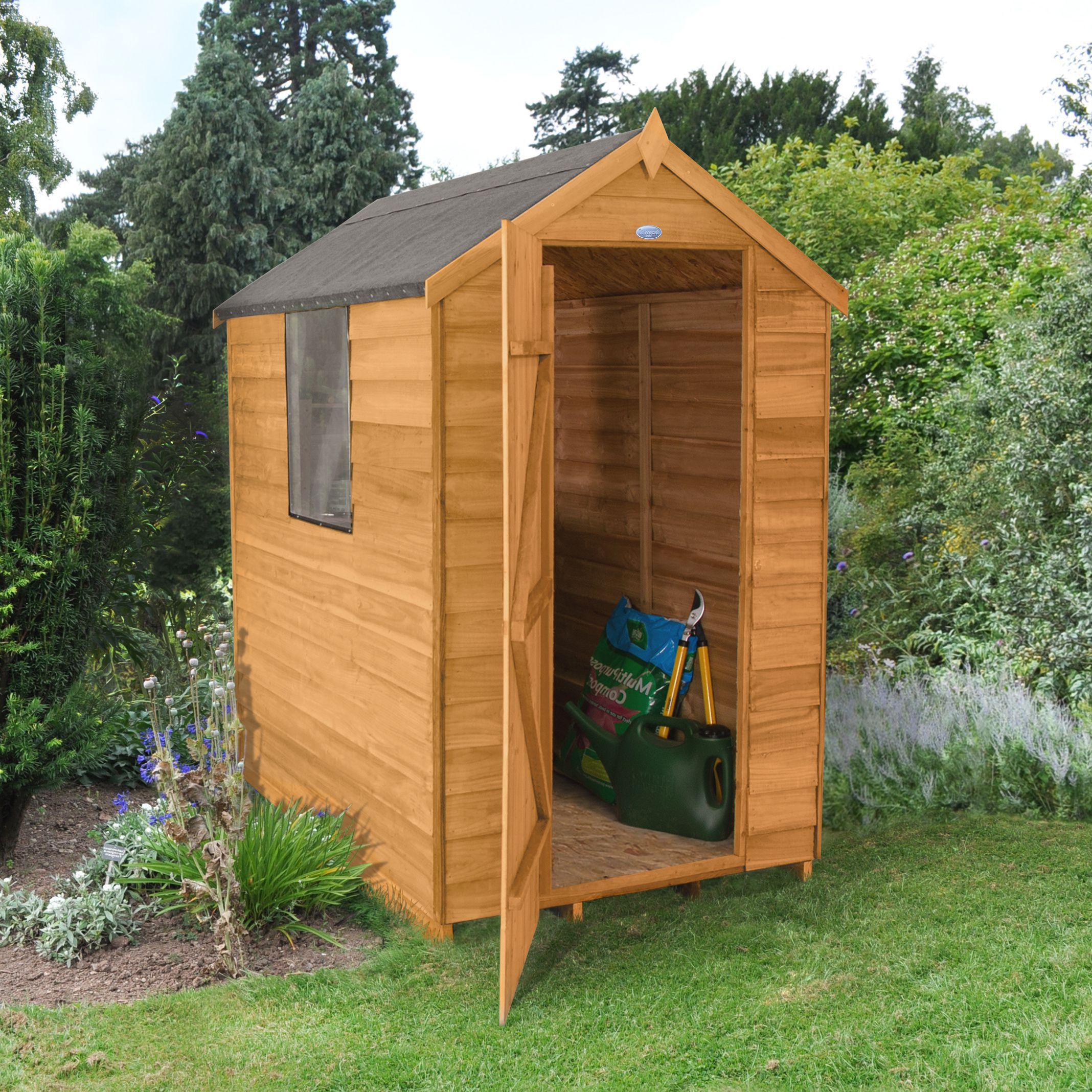 Best ideas about DIY Backyard Sheds . Save or Pin 6x4 Forest Apex Overlap Wooden Shed Departments Now.