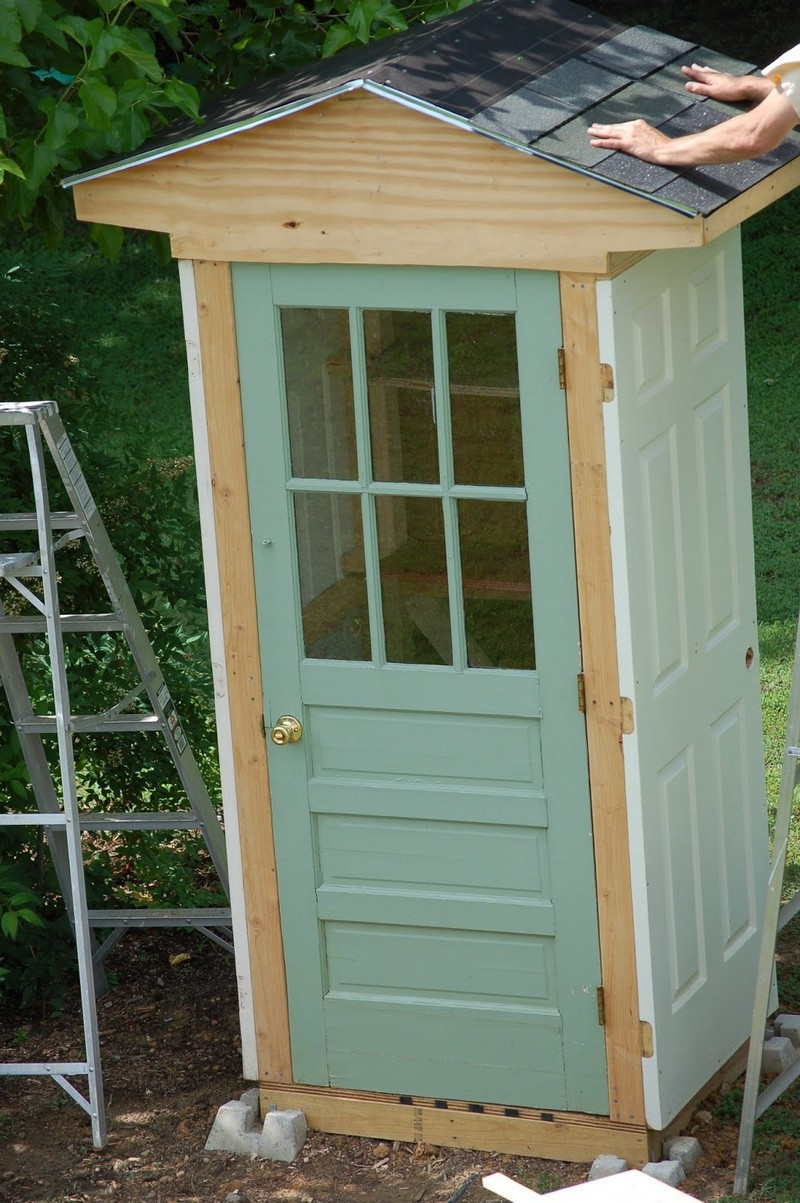 Best ideas about DIY Backyard Sheds . Save or Pin DIY Four Door Shed Now.