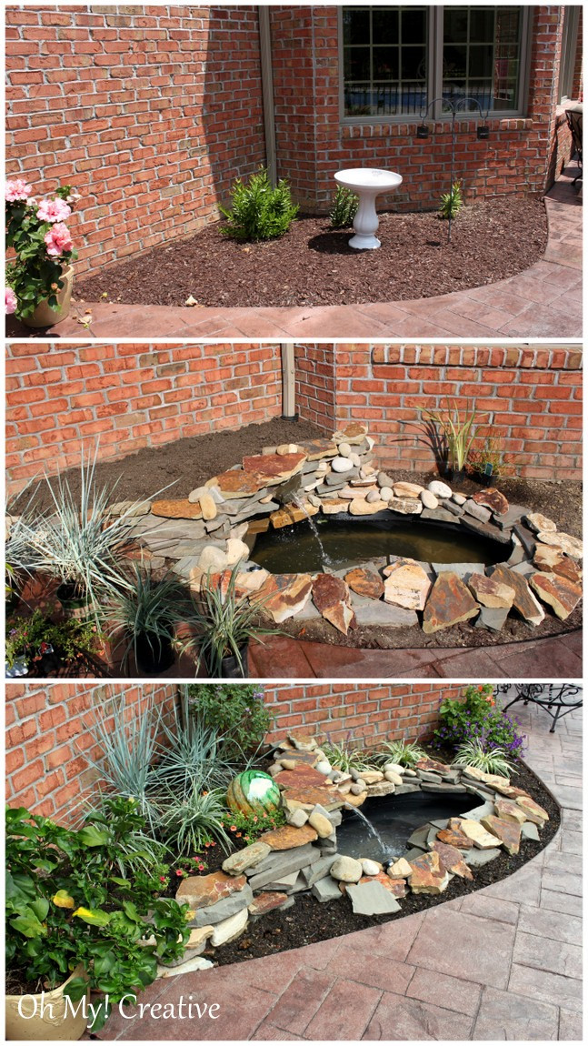 Best ideas about DIY Backyard Waterfall . Save or Pin DIY BACKYARD POND & LANDSCAPE WATER FEATURE Oh My Creative Now.