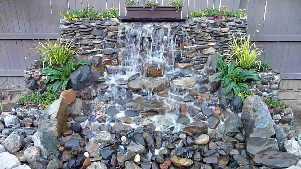 Best ideas about DIY Backyard Waterfall . Save or Pin DIY Backyard Waterfall Now.
