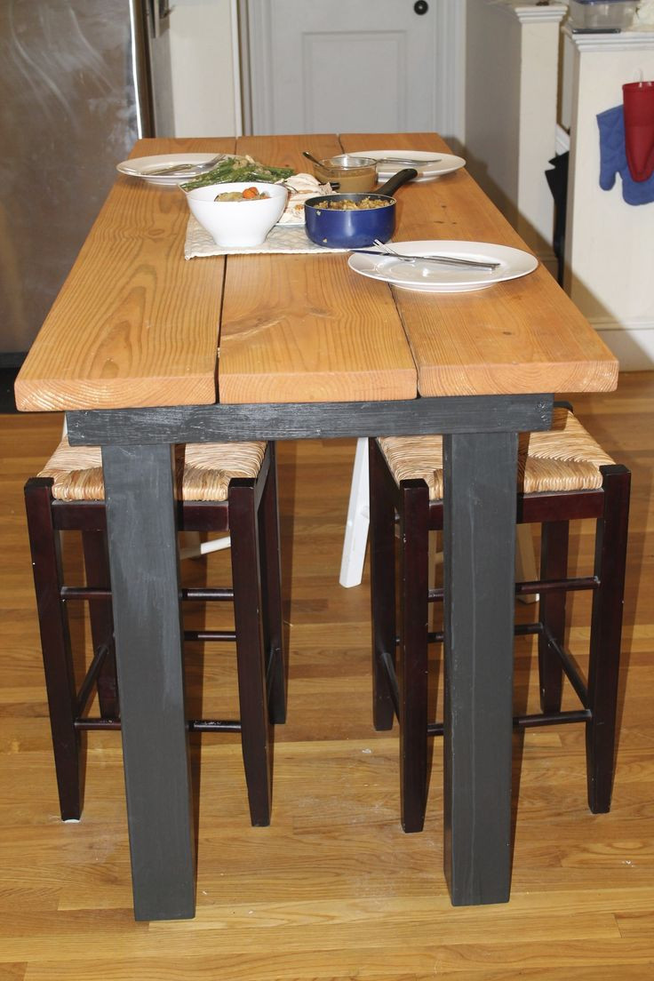 Best ideas about DIY Bar Height Table . Save or Pin Long Bar Height Table DIY Charles is making me this Now.