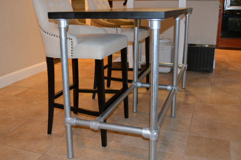 Best ideas about DIY Bar Height Table . Save or Pin DIY Counter Height Table with Pipe Legs Now.