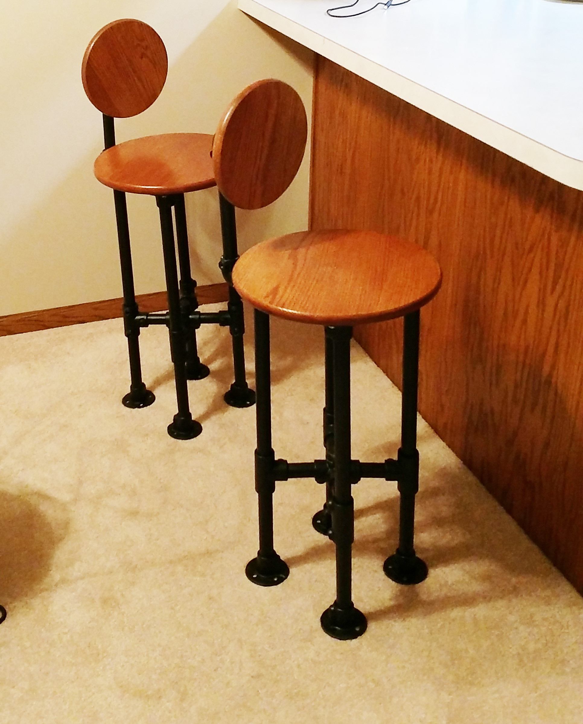 Best ideas about DIY Bar Stools . Save or Pin How to Build a Barstool with Pipe DIY Step by Step Plans Now.
