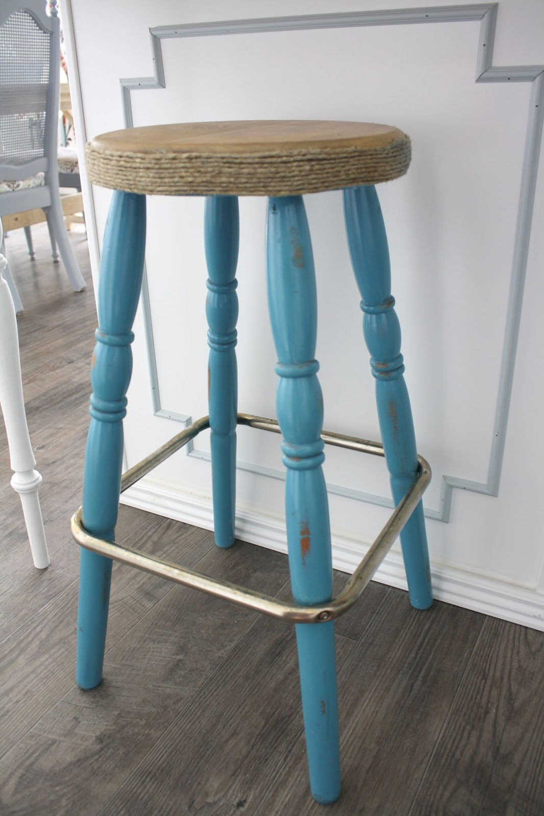 Best ideas about DIY Bar Stools . Save or Pin Nifty Thrifty Momma DIY Easy Bar Stool Makeover Now.