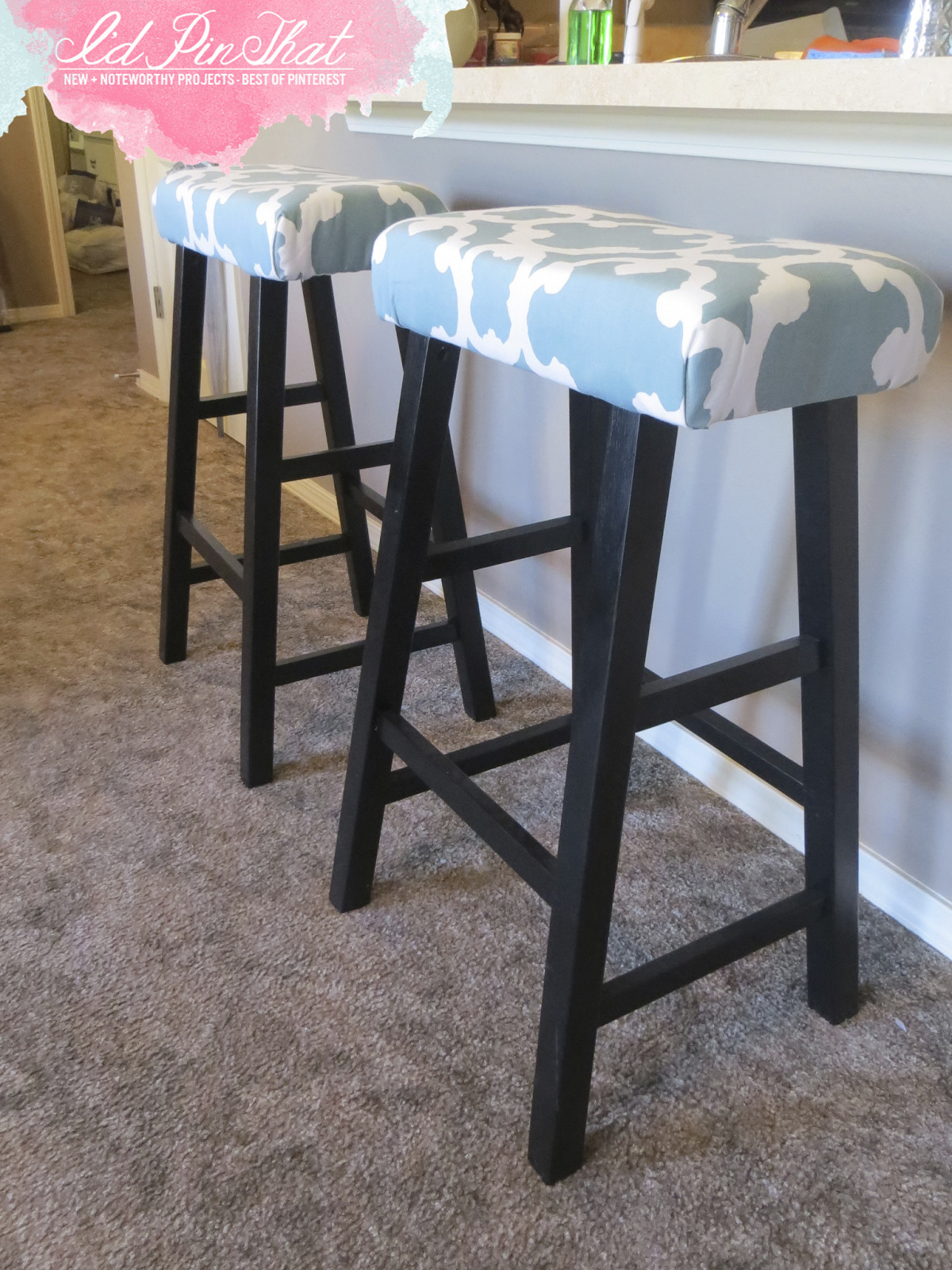 Best ideas about DIY Bar Stools . Save or Pin I d Pin That Bar Stool Face Lift Now.