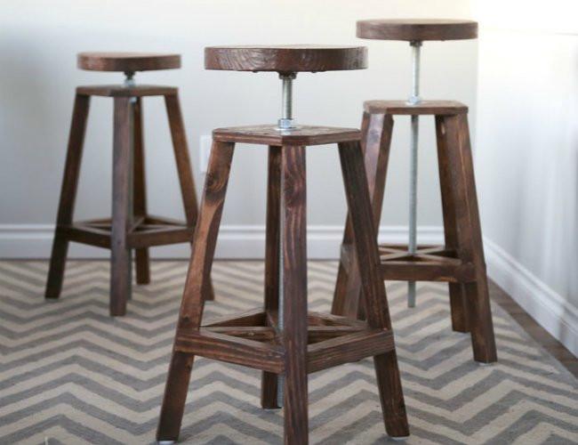 Best ideas about DIY Bar Stools . Save or Pin DIY Bar Stools 5 Ways to Build Yours Bob Vila Now.