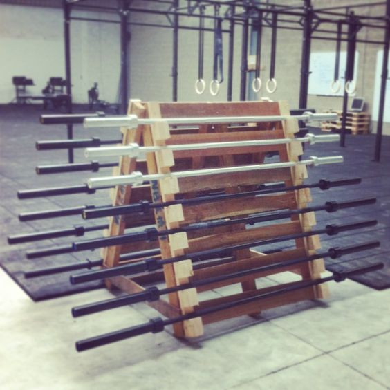 Best ideas about DIY Barbell Rack . Save or Pin Homemade Pallets and Storage on Pinterest Now.