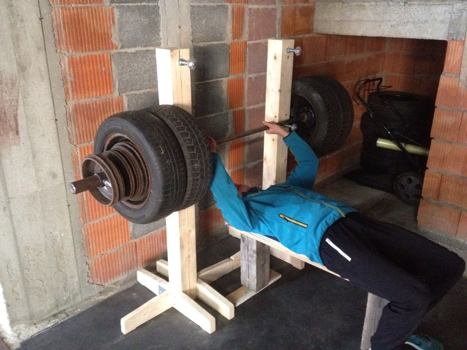 Best ideas about DIY Barbell Rack . Save or Pin Wooden rack Homemade barbell olympic weights wheel Now.
