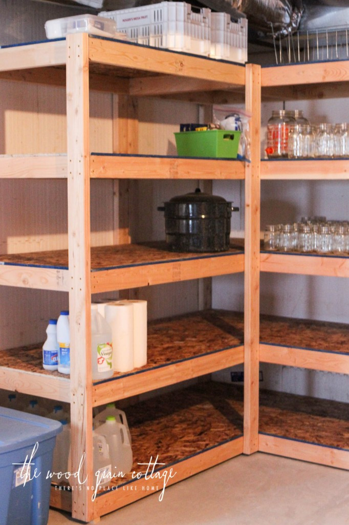 Best ideas about DIY Basement Storage Shelves . Save or Pin DIY Basement Shelving The Wood Grain Cottage Now.